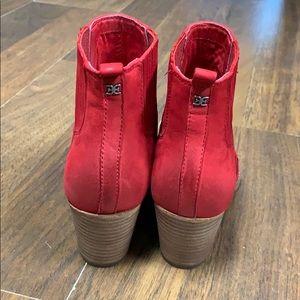 Sam Edelman Shoes - Sam Edelman red cowboy bootie.  Size 8 1/2